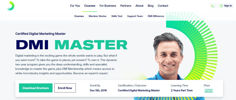 Digital Marketing Institute's Masters in Digital Marketing
