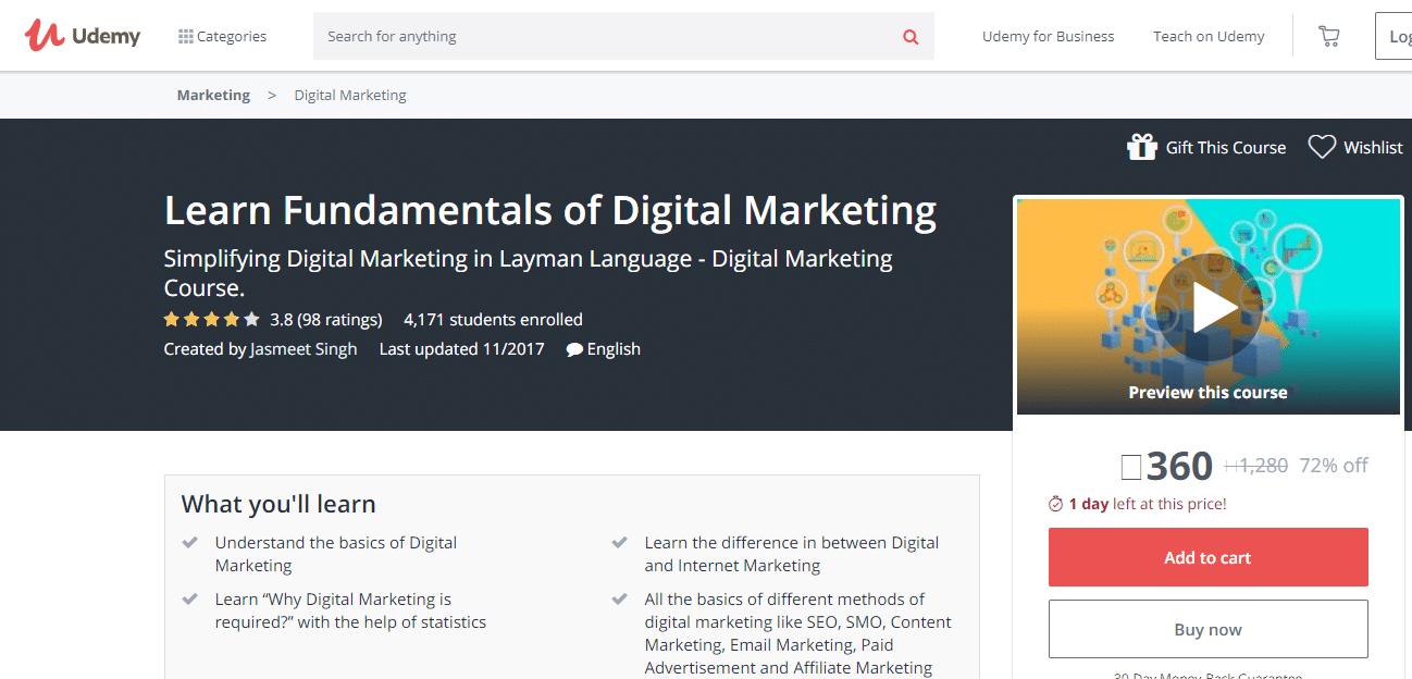 Udemy Learn the Fundamentals of Digital Marketing