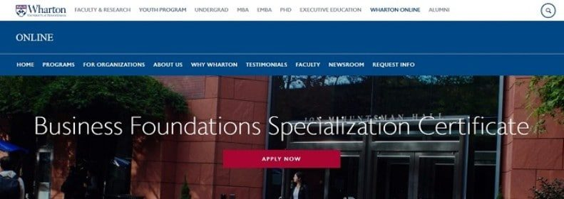 Business Foundations Specialization by The Wharton School