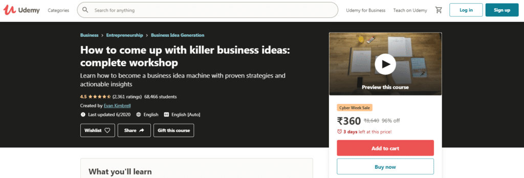 How to come up with killer business ideas complete workshop