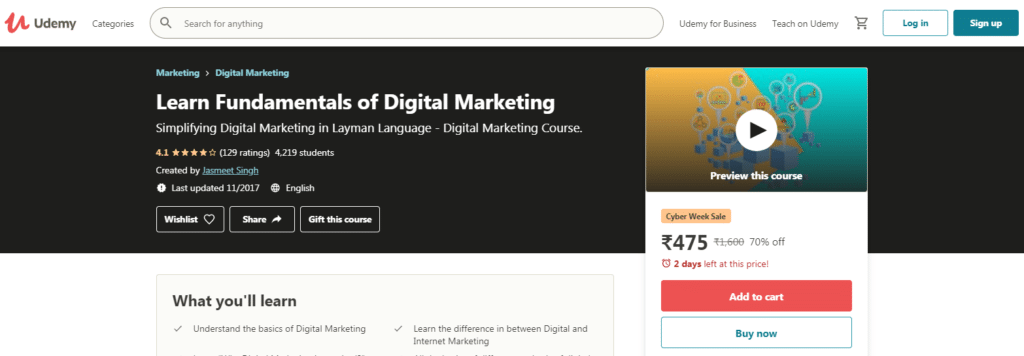 Learn Fundamentals of Digital Marketing