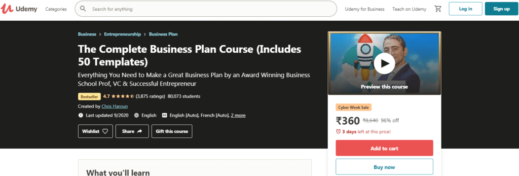 The Complete Business Plan Course